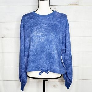 NWT Z by Zella Tie Dye Cropped Plus Pullover